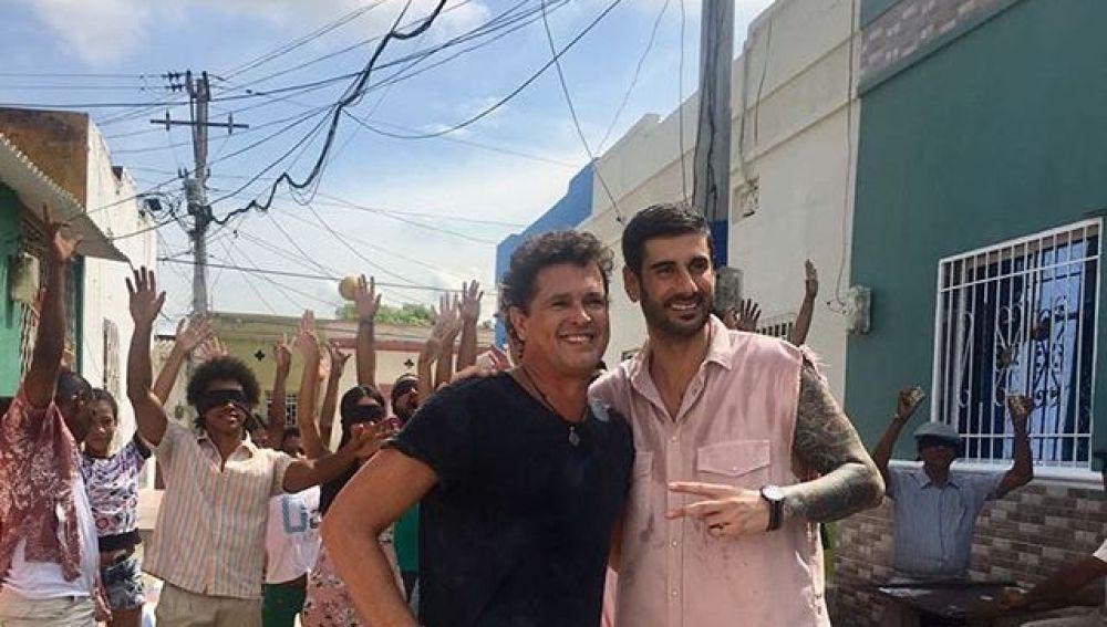 Carlos Vives y Melendi en Santa Marta, en Colombia
