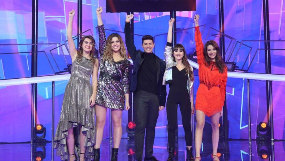 Los cinco finalistas de 'Operación Triunfo 2017'