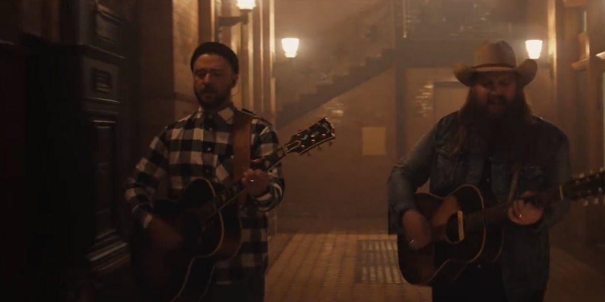 Justin Timberlake y Chris Stapleton en el vídeo de 'Say Something'
