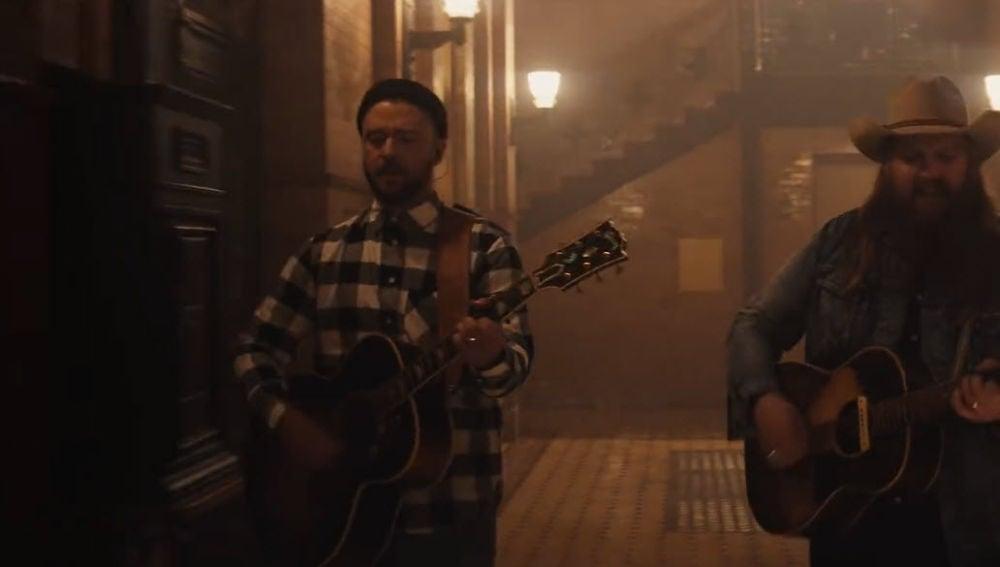 Justin Timberlake y Chris Stapleton en el vídeo de 'Say Something'