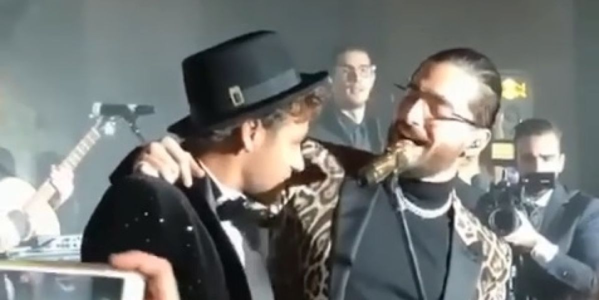 Maluma y Neymar en el cumpleaños del futbolista
