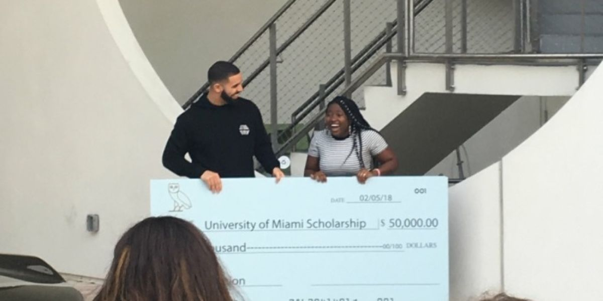 Drake en la Universidad de Miami
