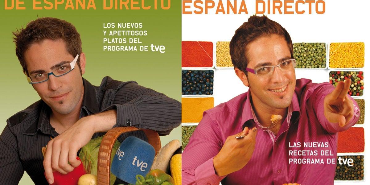 Roberto Leal en los libros de cocina de 'España Directo'