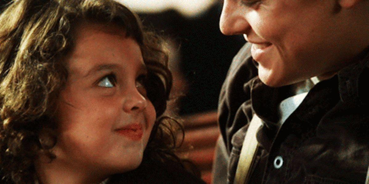 Jack y la pequeña Cora en Titanic