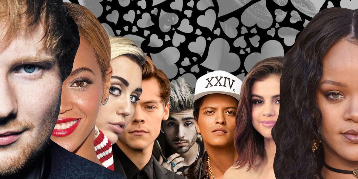 Ed Sheeran, Beyoncé, Rihanna o Selena Gomez son imprescindibles para tu playlist de San Valentín