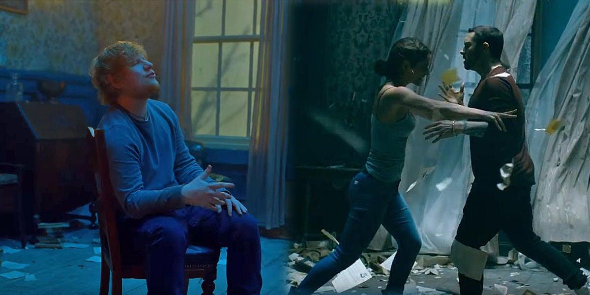 Ed Sheeran y Eminem en el videoclip de 'River'
