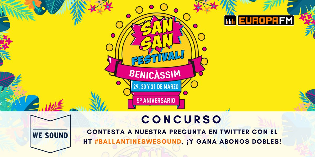 Concurso SanSan Festival en We Sound