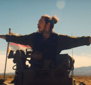 Post Malone en el vídeo de 'Psycho'