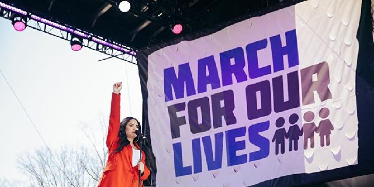 Demi Lovato en la March For Our Lives