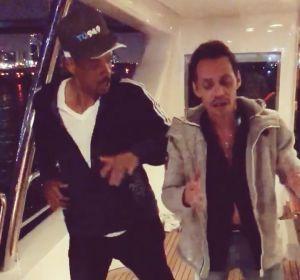 Will Smith y Marc Anthony bailando salsa