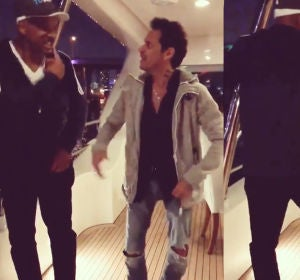 Will Smith y Marc Anthony bailan salsa