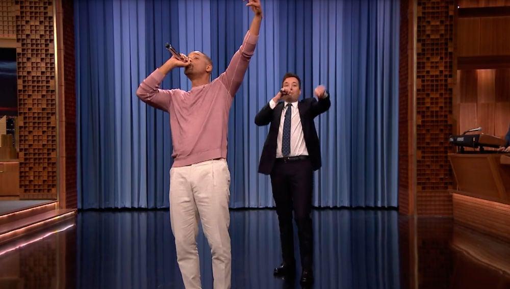 Will Smith con Jimmy Fallon