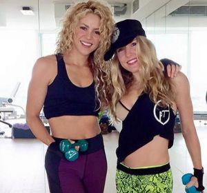 Shakira con Anna Kaiser, su entrenadora personal