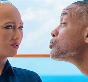 Will Smith intentando besar a Sophia