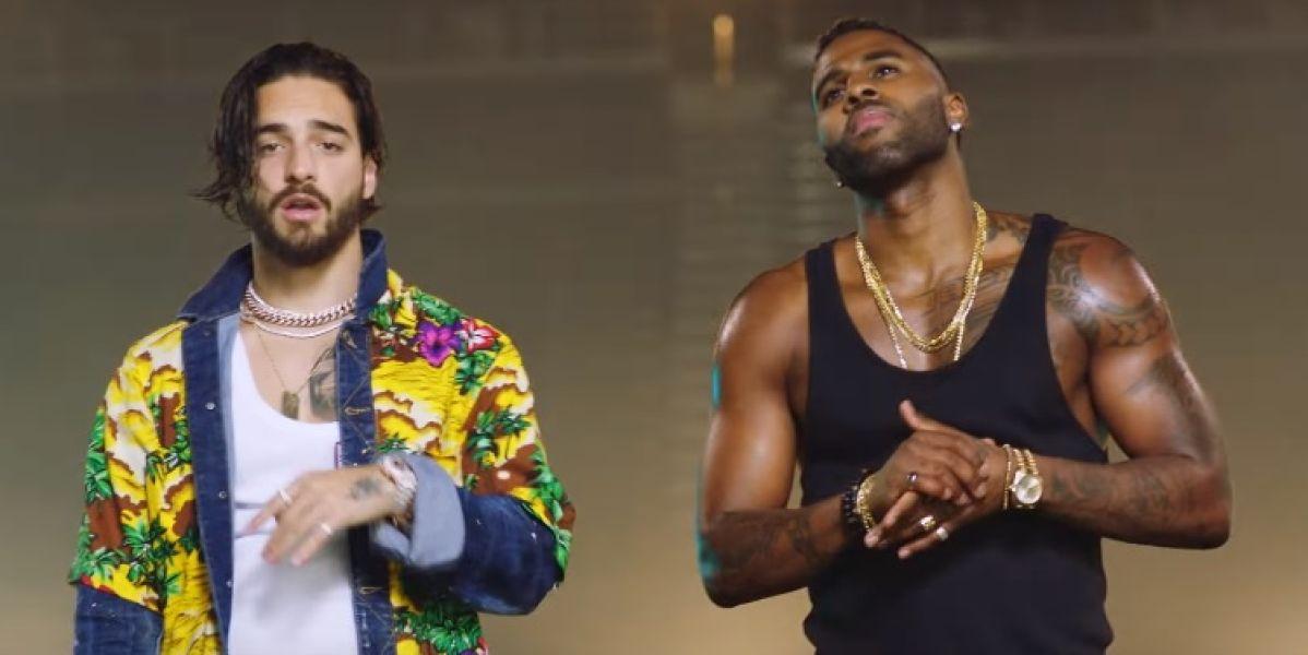 Maluma y Jason Derulo en el videoclip de 'Colors'