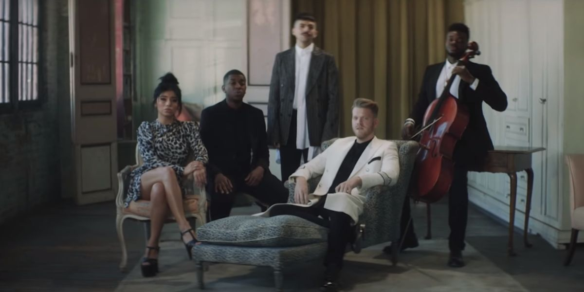 Pentatonix en el vídeo de 'Perfect'