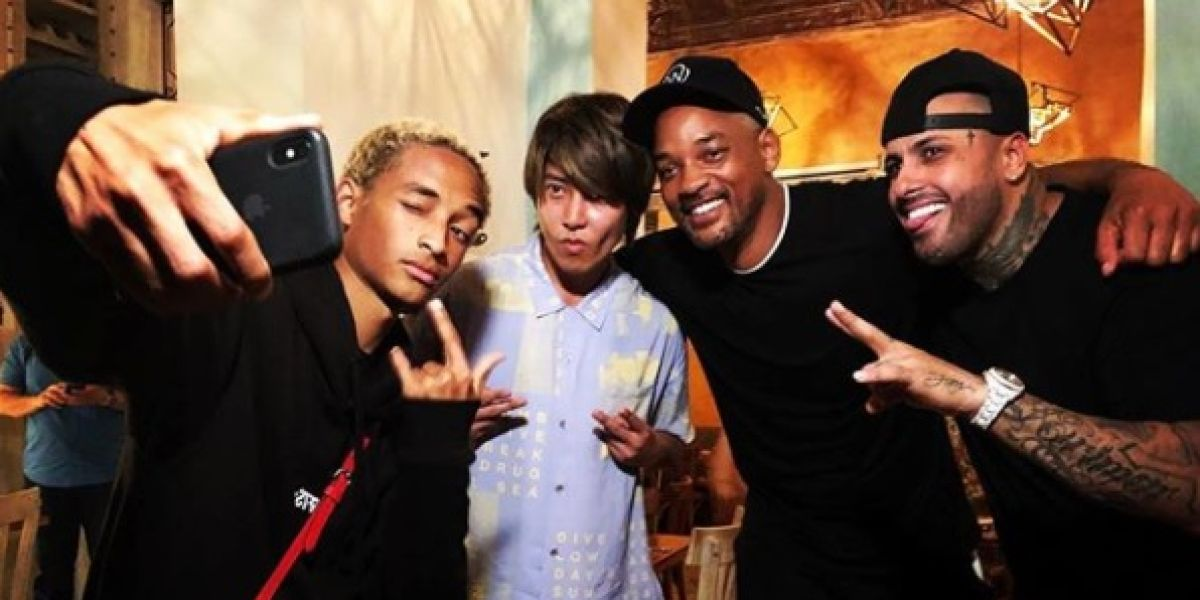 Will y Jaden Smith con Nicky Jam