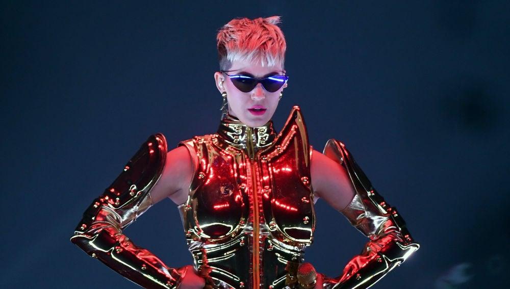 Katy Perry durante su concierto en Las Vegas