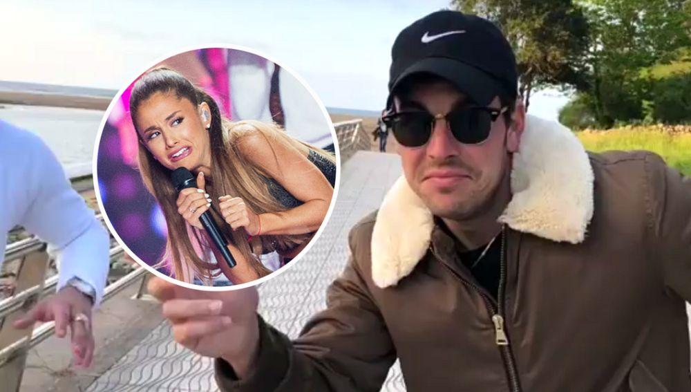 Mario Casas bailando Ariana Grande