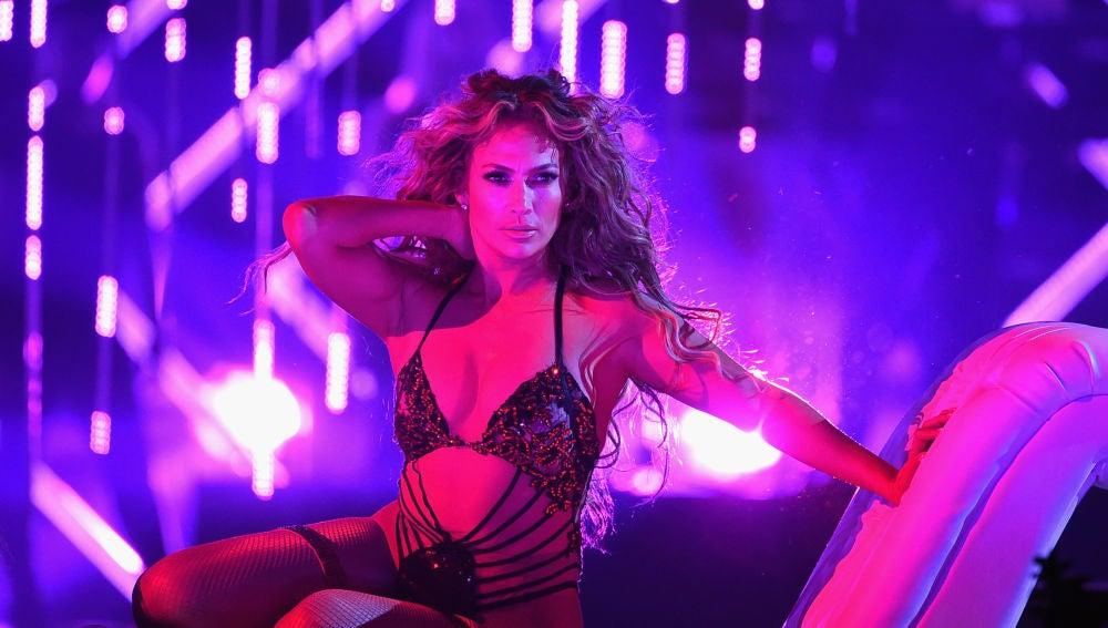 Jennifer Lopez en su show en Las Vegas