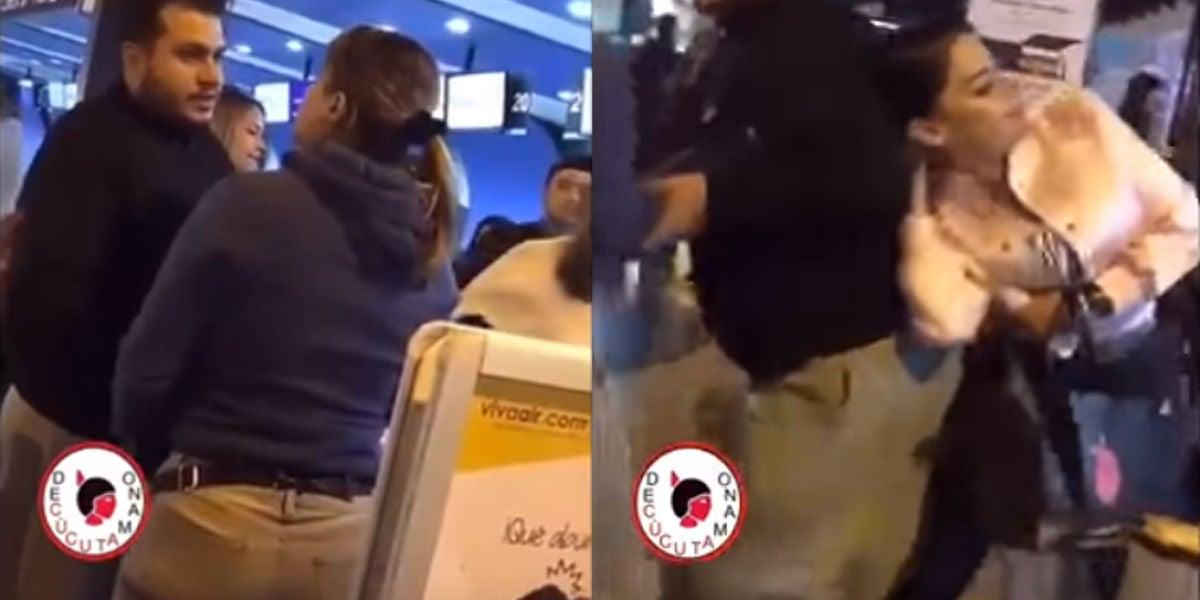 Una mujer pilla a su marido con la amante en el aeropuerto