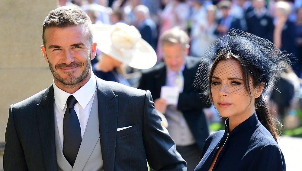 David y Victoria Beckham en la boda de Meghan Markle y el príncipe Harry