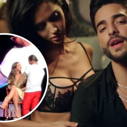 Maluma besa a su chica sobre el escenario