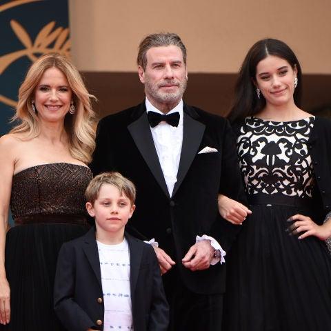 John Travolta y Kelly Preston con sus hijos en Cannes 2018