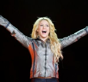 Shakira durante su concierto en Madrid dentro de la gira Sale El Sol World Tour (2011)