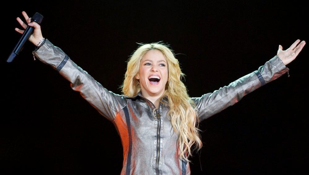 Shakira durante su concierto en Madrid dentro de la gira Sale El Sol World Tour (2011)