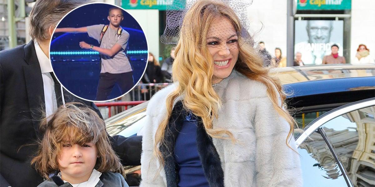 Paulina Rubio le enseña el 'floss dance' a su hijo Nicola