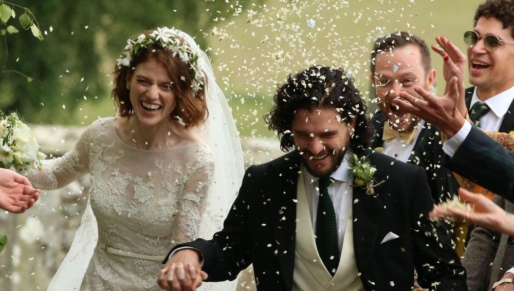 Kit Harington se casa con Rose Leslie
