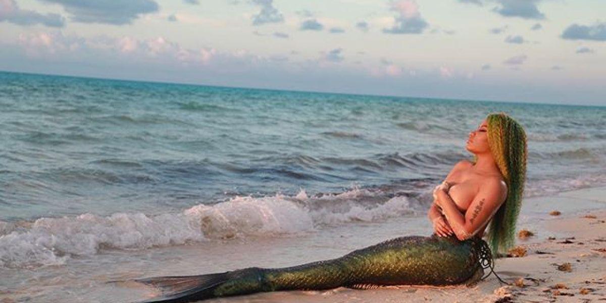 Nicki Minaj se convierte en una sirena para el vídeo de 'Bed'