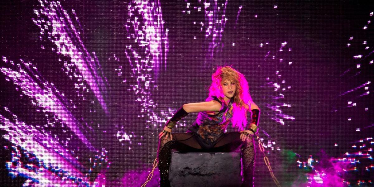 Shakira en un concierto en el Palau Sant Jordi