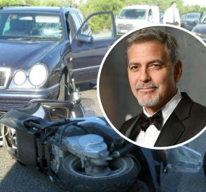 Accidente de George Clooney en Cerdeña