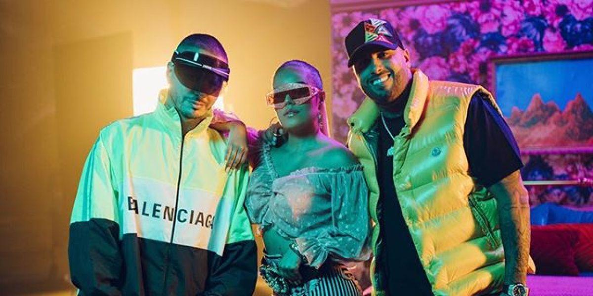 J Balvin, Karol G y Nicky Jam presentan el remix de 'Mi Cama'