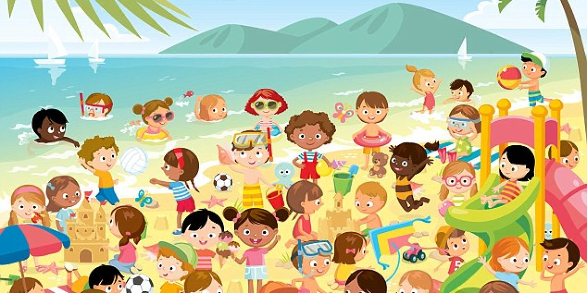 ¿Eres capaz de encontrar a la pareja de gemelos perdida en esta playa?