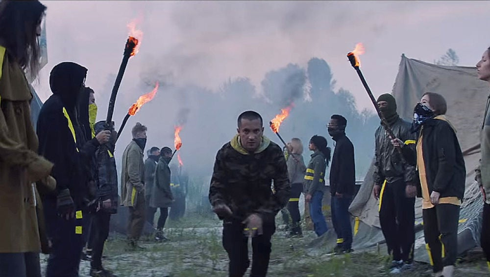 Twenty One Pilots en el vídeo de 'Levitate'