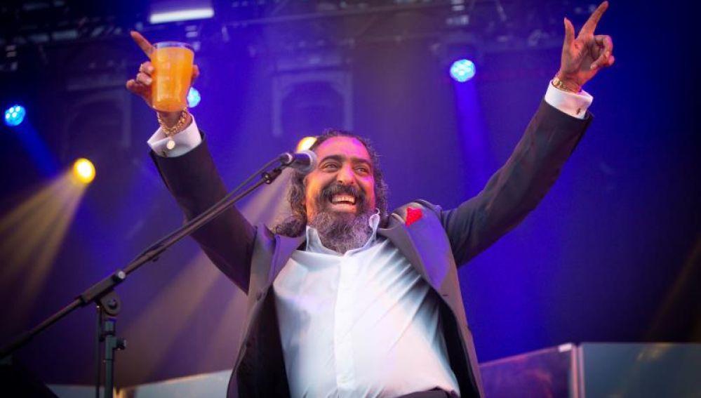Diego El Cigala durante su polémica actuación en el Sonorama 2018