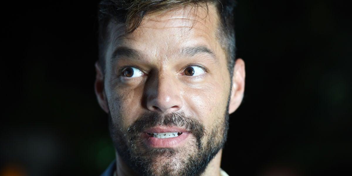 Ricky Martin durante la gala de Unicef en Cerdeña