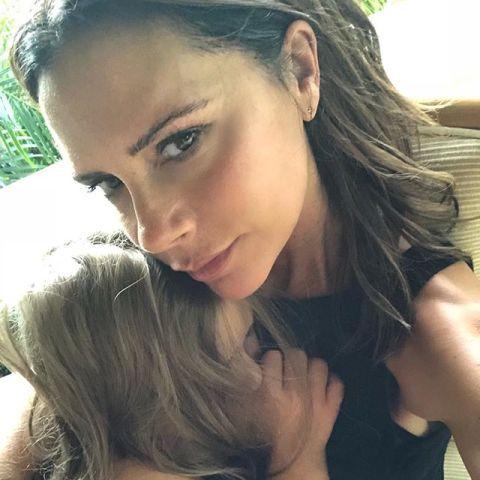 Victoria Beckham con su hija Harper Seven