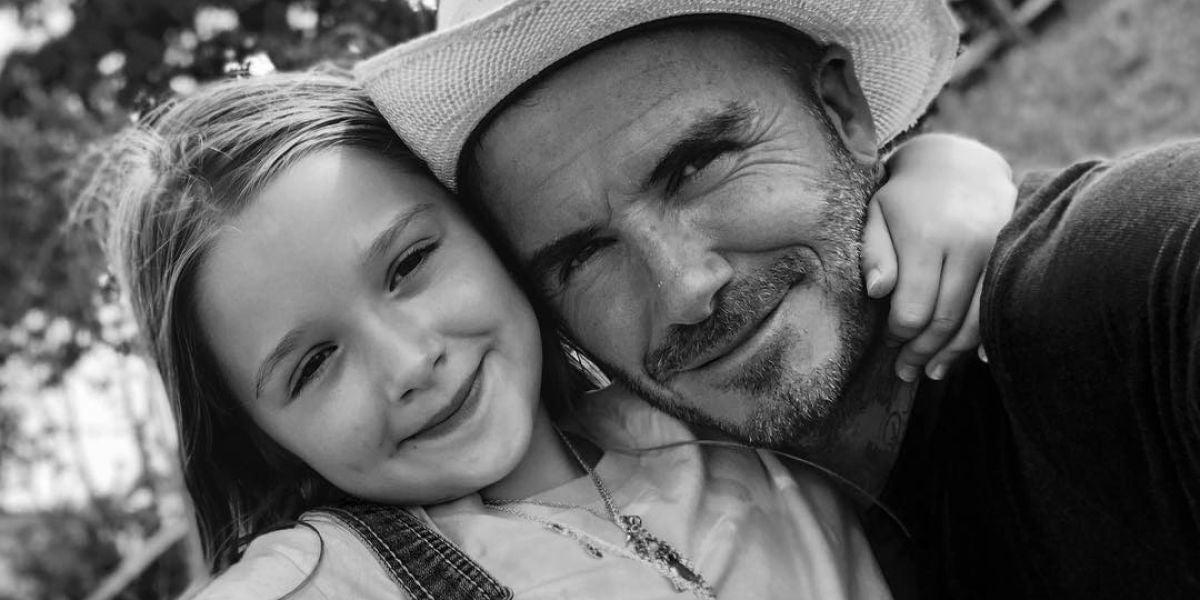 David Beckham celebra los siete años de su pequeña, Harper Beckham