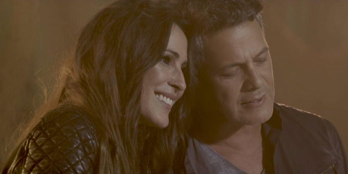 Malú y Alejandro Sanz en el videoclip de 'Llueve Alegría'