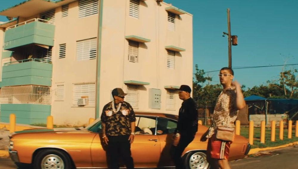 Daddy Yankee, Bad Bunny y Pacho en el videoclip de 'Como soy'
