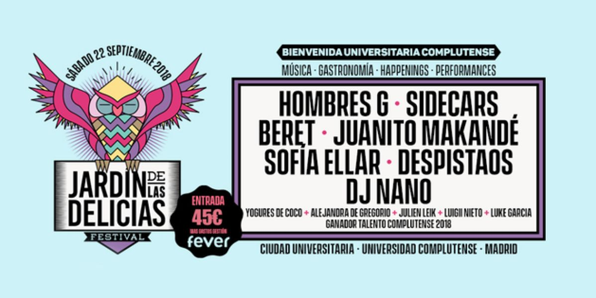 Cartel del festival Jardín de las Delicias