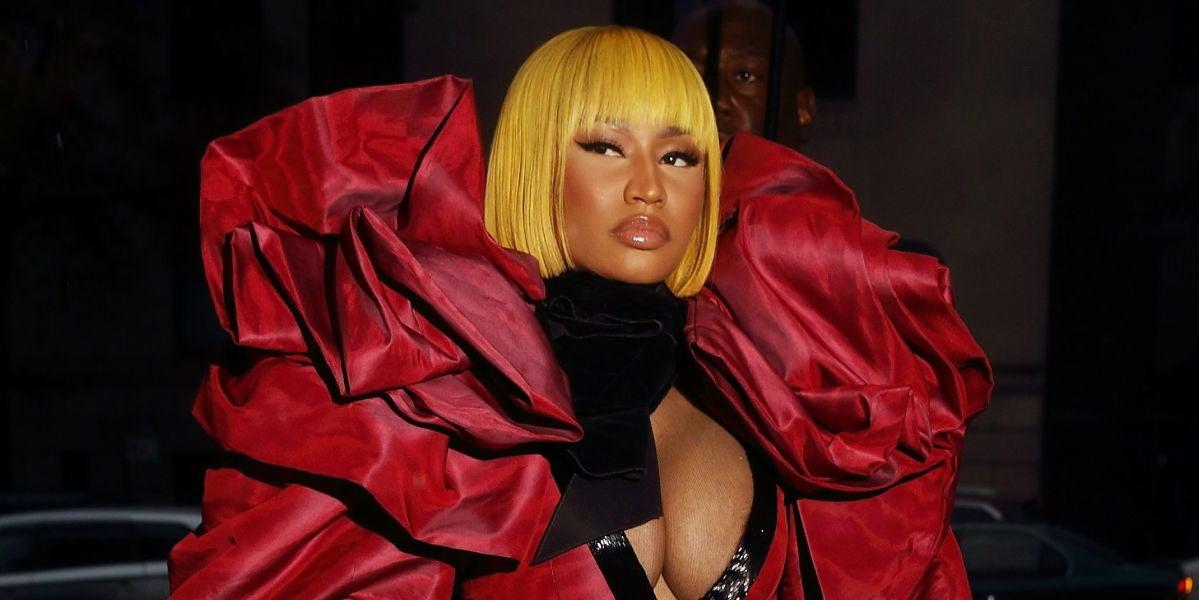 De esta guisa llegó Nicki Minaj al desfile de Marc Jacobs