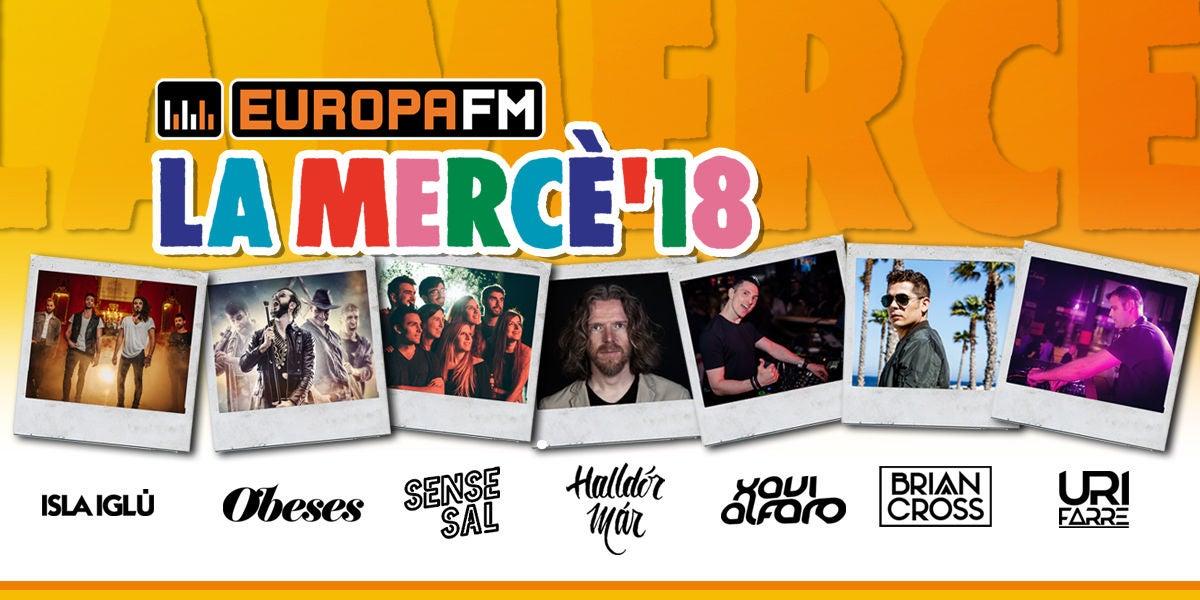 Cartel del escenario Europa FM para La Mercè 2018