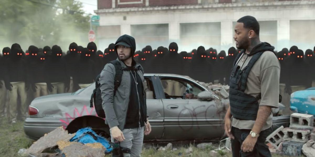 Eminem y Joyner Lucas en el videoclip de 'Lucky You'