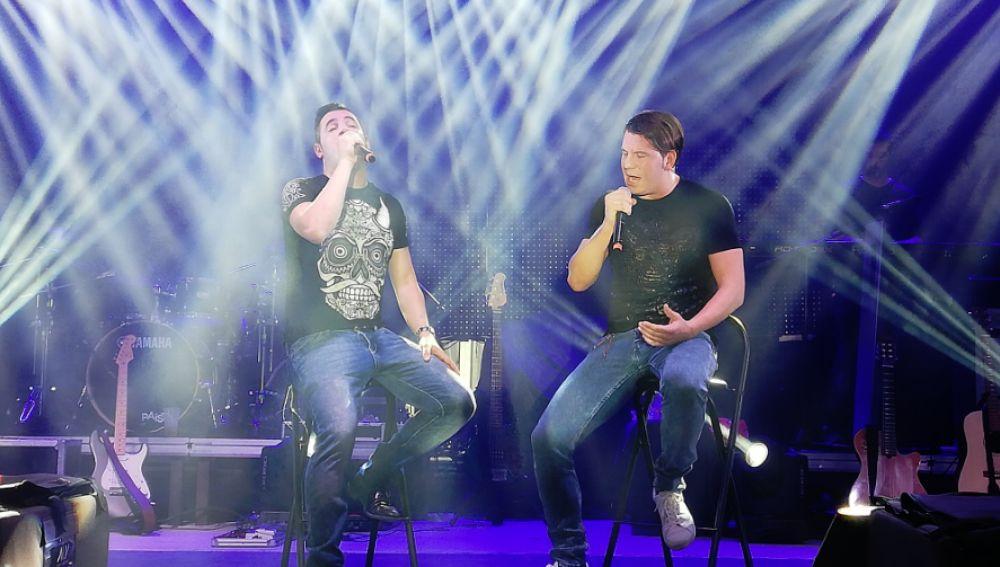 Andy y Lucas en concierto