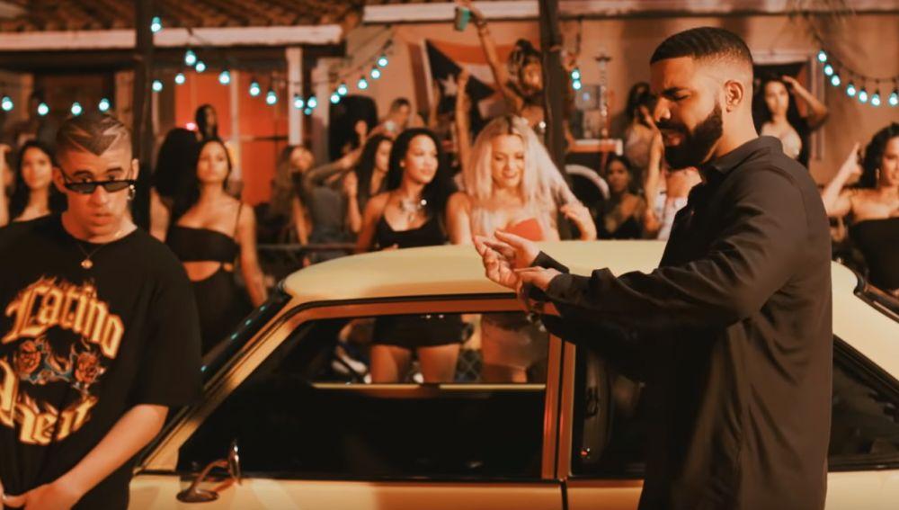 Bad Bunny y Drake en 'Mia'